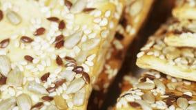 Grain biscuits stock footage
