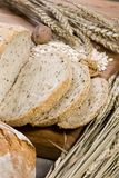 Grain Bread 9. An assortment of whole grain breads on a table Stock Photography