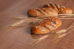 Grain bread with ears Stock Photography