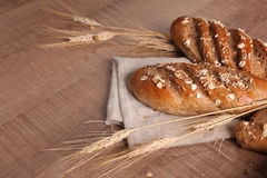 Grain bread with ears Stock Image