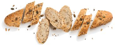 Grain Bread With Seeds.Above View. Stock Photography