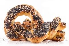 Grain bun with seeds Royalty Free Stock Image