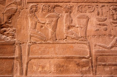 Grain carving, Luxor Temple Royalty Free Stock Photography