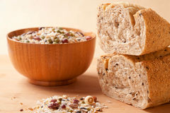 Grain cereals and breads Stock Photography