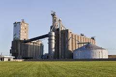 A Grain Co-op Facility Stock Image
