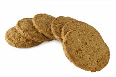 Grain Cookies. Isolated on white Royalty Free Stock Photos