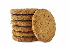 Grain Cookies. Isolated on white Stock Image