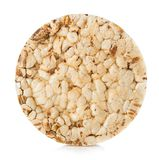 Grain crispbread close-up isolated on a white background. Fitness concept. Grain crispbread close-up isolated on white background. Fitness concept stock photo