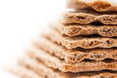 Grain crispbread pile detail Stock Photo
