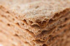 Grain crispbread pile Stock Photos