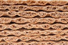 Grain crispbread slices Stock Photo
