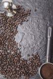 Grain de café d'isolat pour le menu de menufor Images stock