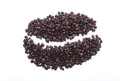 Grain de café d'isolement pour le menu de menufor Photographie stock
