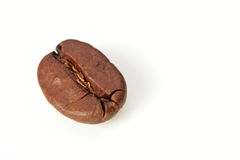 Grain de café d'isolement sur le blanc image stock