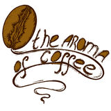 Grain de café de logo illustration de vecteur