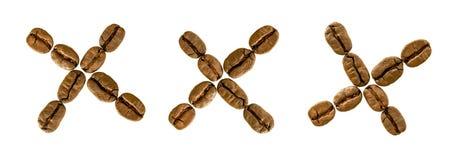 Grain de café XXX de orthographe Photographie stock libre de droits