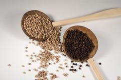Grain de poivre noir et blanc Photos stock