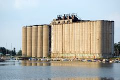 Grain Elevator. An abandoned grain elevator on the Buffalo New York waterfront Stock Images