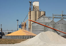 Grain Elevator. Loading corn for storage at a grain elevator Royalty Free Stock Photos