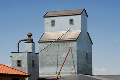Grain elevator. Roof in the Midwest rural farm Royalty Free Stock Photo