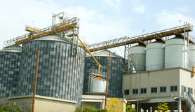 Grain elevator. In Cyprus, horizontal picture Royalty Free Stock Image
