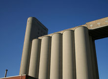 Grain elevator. For storing wheat with blue sky Royalty Free Stock Photography