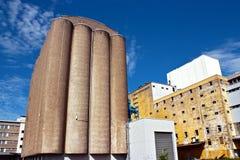 Grain elevator. Concrete grain elevator in Helsinki, Finland Royalty Free Stock Photos
