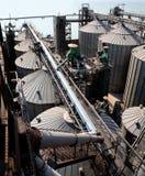 Grain elevator. Towers grain elevator. Type overhand Stock Photos