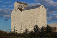 Grain elevator. Abandoned saskatchewan grain elevator in summer Royalty Free Stock Photo