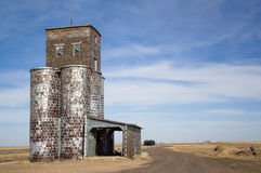 Grain elevator. Abandoned grain elevator in the usa Royalty Free Stock Image