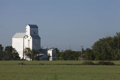 Grain elevator. In the Canadian prairies.  in Dufresne, Manitoba, Canada Royalty Free Stock Image