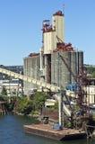 Grain elevator dispenser Portland OR. Royalty Free Stock Images