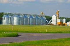 Grain elevator. Gomel district, Belarus Royalty Free Stock Image