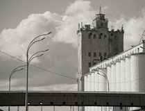 Grain elevator. Photo of an old abandoned grain elevator in Kiev Stock Images