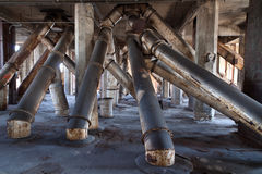 Grain elevator pipes Stock Images