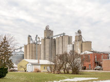 Grain elevator small town midwest Stock Photos