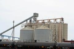 Grain elevator & storage tank Stock Photos
