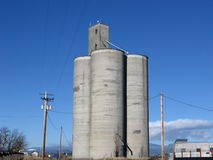 Grain Elevator. For storing wheat Royalty Free Stock Photo