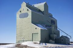 Grain Elevator Wood Structure Silos Alberta Prairies Canada Royalty Free Stock Photography