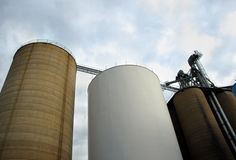 Grain Elevators Royalty Free Stock Images