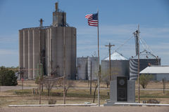 Grain Elevators in the Heartland Stock Image