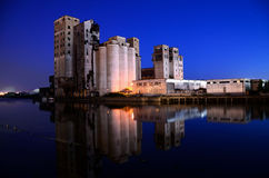 Grain Elevators Stock Photography