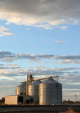 Grain Elevators and Sunset Royalty Free Stock Images