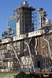 Grain elevators and tower Portland Oregon. Stock Photos