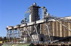 Grain elevators and tower Portland Oregon. Stock Photography