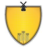 Grain emblem Royalty Free Stock Image