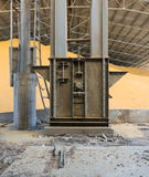 Grain factory. Machinery and maze Royalty Free Stock Photo