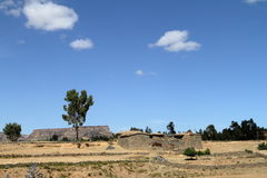 Grain fields and farms in Ethiopia Stock Photo