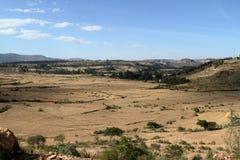 Grain fields and farms in Ethiopia. A Grain fields and farms in Ethiopia Stock Photo