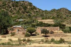 Grain fields and farms in Ethiopia. A Grain fields and farms in Ethiopia Stock Photos
